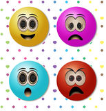 Emoticons Arkivbild