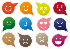 emoticons royaltyfri illustrationer