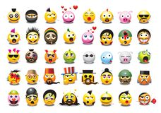 emoticons Royaltyfria Bilder