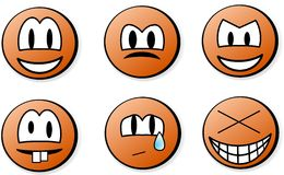 Emoticons Stockfotos