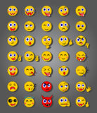 35 Emoticons Foto de Stock