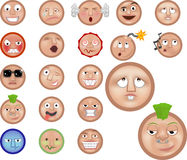 Emoticons. A set of emoticons Stock Images