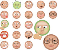 Emoticons. A set of emoticons Royalty Free Stock Photography