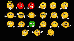 emoticons Foto de Stock Royalty Free