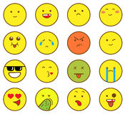 Emoticons ajustados Foto de Stock Royalty Free