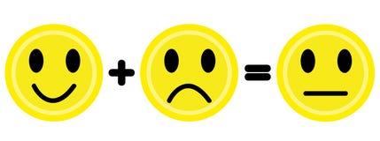 Emoticons amarelos ilustração stock