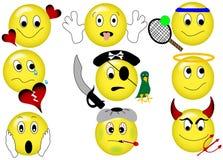 Emoticons amarelos Fotografia de Stock