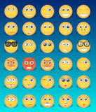 Emoticons amarelos dos ícones Imagem de Stock