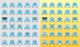 Emoticons amarelos dos ícones Fotografia de Stock