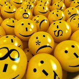 Emoticons amarillos ilustración del vector