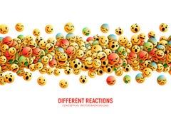 Emoticons Art Illustration conceptual do vetor ilustração stock