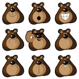 Emoticons bears Stock Images