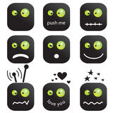 Emoticons buttons Stock Photo