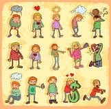 Emoticons cartoon Set Royalty Free Stock Photos