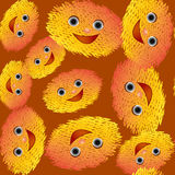 Emoticons cartoon with smile seamless pattern Royalty Free Stock Photo