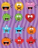 Emoticons de la música Imágenes de archivo libres de regalías