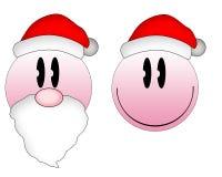 Emoticons de la Navidad Foto de archivo