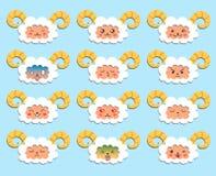 Emoticons de las ovejas Fotos de archivo
