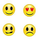 Emoticons de los smiley Imagen de archivo