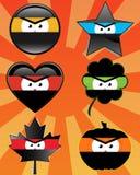 Emoticons de Ninja Fotos de archivo