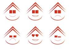 Emoticons de Real Estate imagenes de archivo