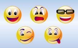 Emoticons del fronte di smiley Immagini Stock Libere da Diritti