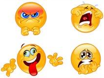 Emoticons di emozioni Fotografie Stock