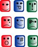 Emoticons di un disegno differente Immagini Stock Libere da Diritti
