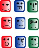 Emoticons of a different design Royalty Free Stock Images
