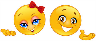 Emoticons do apresentador Fotos de Stock Royalty Free