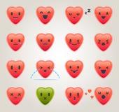 Emoticons do coração Foto de Stock