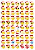 Emoticons do Natal/arquivo vetor de Emoji Foto de Stock