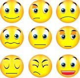 Emoticons do smiley Foto de Stock