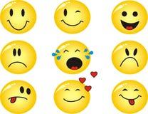 Emoticons do vetor Imagens de Stock Royalty Free