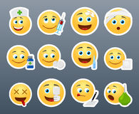 Emoticons doctor Royalty Free Stock Photos