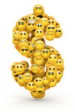 Emoticons  dollar sign Stock Photography