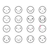 Emoticons Doodle Round 2 Royalty Free Stock Images
