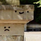 Emoticons dos grafittis na parede Imagem de Stock Royalty Free