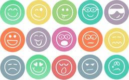 Emoticons drenados mano ilustración del vector
