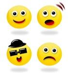 Emoticons e le loro sensibilità Fotografia Stock