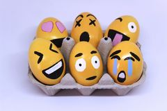 Emoticons Easter Eggs stock image