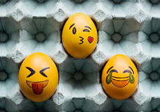 Emoticons Easter jajka Zdjęcia Royalty Free