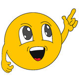 emoticons Emoji Ícones do sorriso Ilustração Imagem de Stock Royalty Free