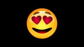Emoticons: 4 emojis - packe 2 av 6 - livlig - loopable - alfabetisk kanal arkivfilmer