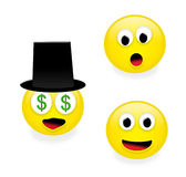 Emoticons engraçados, parte 1 Foto de Stock Royalty Free