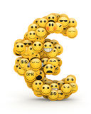 Emoticons  euro Royalty Free Stock Photo