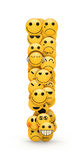 Emoticons  exclamation mark Stock Photos