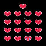 Emoticons Heart Color 30 Royalty Free Stock Photo