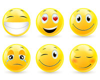 Emoticons - icons Royalty Free Stock Images