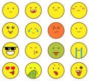 Emoticons impostati Fotografia Stock Libera da Diritti